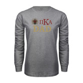 Grey Long Sleeve T Shirt-Dad with Crest