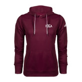 Adidas Climawarm Maroon Team Issue Hoodie-Official Greek Letters