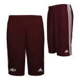 Adidas Climalite Maroon Practice Short-Official Greek Letters