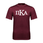 Performance Maroon Tee-Official Greek Letters
