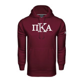 Under Armour Maroon Performance Sweats Team Hoodie-Official Greek Letters