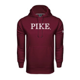 Under Armour Maroon Performance Sweats Team Hoodie-PIKE