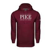 Under Armour Maroon Performance Sweats Team Hoodie-PIKE Lockup