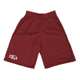 Performance Classic Maroon 9 Inch Short-Official Greek Letters
