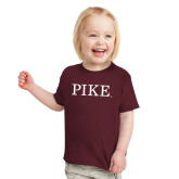 Toddler Maroon T Shirt-PIKE
