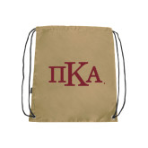 Nylon Vegas Gold Drawstring Backpack-Official Greek Letters