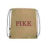 Nylon Vegas Gold Drawstring Backpack-PIKE