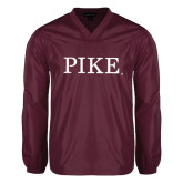 V Neck Maroon Raglan Windshirt-PIKE