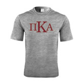 Performance Grey Heather Contender Tee-Official Greek Letters