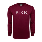Maroon Long Sleeve T Shirt-PIKE