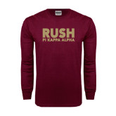 Maroon Long Sleeve T Shirt-Rush