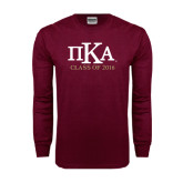 Maroon Long Sleeve T Shirt-Class of