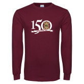 Maroon Long Sleeve T Shirt-150 Years