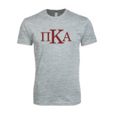 Next Level SoftStyle Heather Grey T Shirt-Official Greek Letters