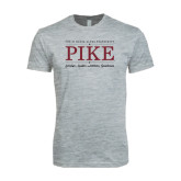 Next Level SoftStyle Heather Grey T Shirt-PIKE Lockup