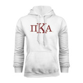 White Fleece Hoodie-Official Greek Letters