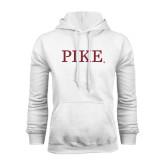 White Fleece Hoodie-PIKE