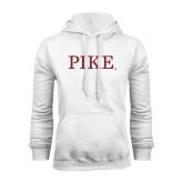 White Fleece Hoodie-PIKE