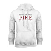 White Fleece Hoodie-PIKE Lockup