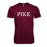 Next Level SoftStyle Maroon T Shirt-PIKE