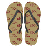 Full Color Flip Flops-Official Greek Letters