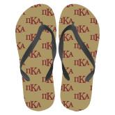 Full Color Flip Flops-Official Greek Letters