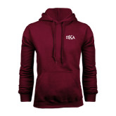Maroon Fleece Hoodie-Official Greek Letters