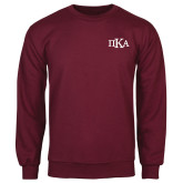 Maroon Fleece Crew-Official Greek Letters