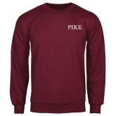Maroon Fleece Crew-PIKE