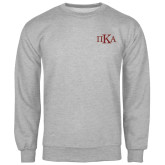 Grey Fleece Crew-Official Greek Letters