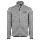 Grey Heather Fleece Jacket-PIKE