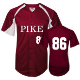 Replica Maroon Adult Baseball Jersey-Pike