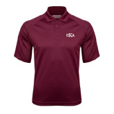 Maroon Textured Saddle Shoulder Polo-Official Greek Letters