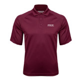 Maroon Textured Saddle Shoulder Polo-PIKE
