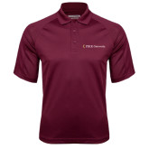 Maroon Textured Saddle Shoulder Polo-PIKE University