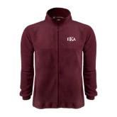 Fleece Full Zip Maroon Jacket-Official Greek Letters