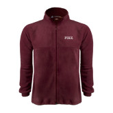 Fleece Full Zip Maroon Jacket-PIKE