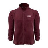 Fleece Full Zip Maroon Jacket-PIKE