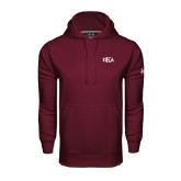 Under Armour Maroon Performance Sweats Team Hood-Official Greek Letters