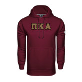 Under Armour Maroon Performance Sweats Team Hood-Greek Letters Tackle Twill