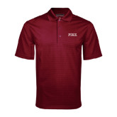 Maroon Mini Stripe Polo-PIKE