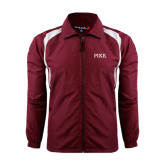 Colorblock Maroon/White Wind Jacket-PIKE