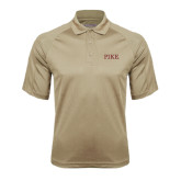 Vegas Gold Textured Saddle Shoulder Polo-PIKE