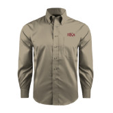 Red House Tan Long Sleeve Shirt-Official Greek Letters