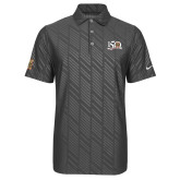 Nike Dri Fit Charcoal Embossed Polo-150 Years