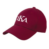 Maroon Heavyweight Twill Pro Style Hat-Official Greek Letters