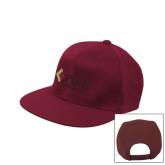 Maroon Flat Bill Snapback Hat-PIKE University