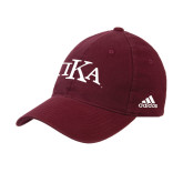 Adidas Maroon Slouch Unstructured Low Profile Hat-Official Greek Letters