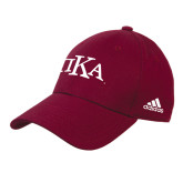 Adidas Maroon Structured Adjustable Hat-Official Greek Letters