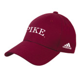 Adidas Maroon Structured Adjustable Hat-PIKE